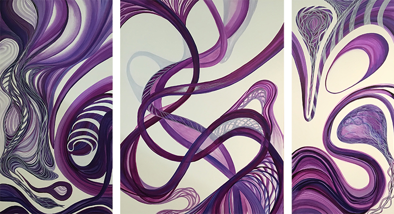 "Purple Series #1, 48"" x 24"", 48"" x 36"", 48""x 24"""